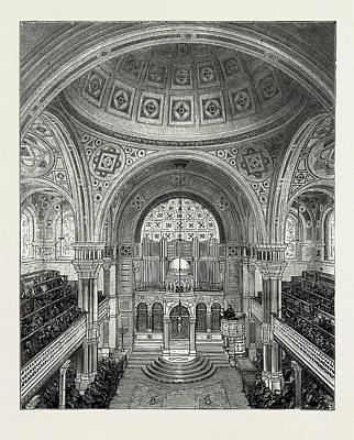 Synagogue Drawing - West London Synagogue, Upper Berkeley Square by Litz Collection