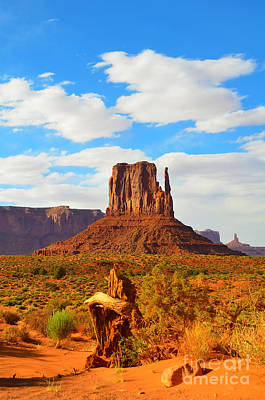 West Mitten At Monument Valley Art Print by Debra Thompson