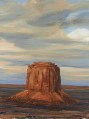 Painting - West Mitten Butte Sunset by David  Llanos