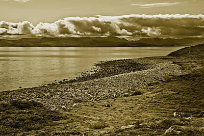 Photograph - West Of Ireland Famine Field Sepia by Jane McIlroy