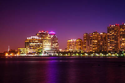 Photograph - West Palm Beach In Purple by Lynn Bauer