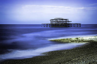 West Pier Brighton - Long Exposure Art Print by Neville Barber