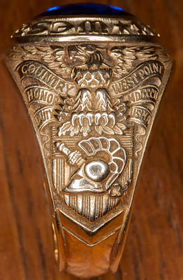 Photograph - West Point Class Ring by Dan McManus