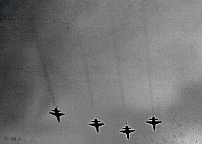 Photograph - West Point Jets by Lorella  Schoales