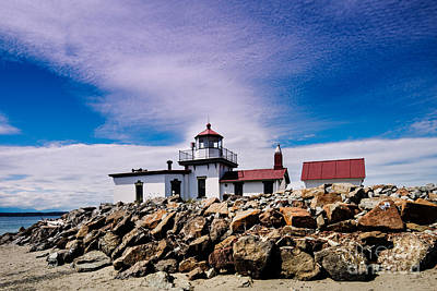 Nautical Structures Photograph - West Point Lighthouse - Discovery Park - Seattle Washington by Silvio Ligutti