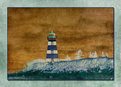 Photograph - West Point Lighthouse by WB Johnston