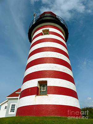 Photograph - West Quoddy Head Lighthouse Tower by Christine Stack