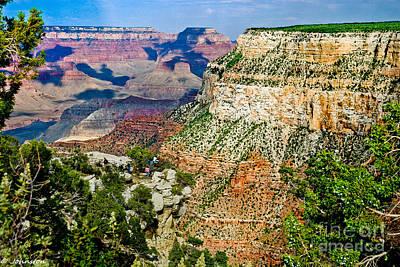 Thor Mixed Media - West Rim Drive Grand Canyon by Bob and Nadine Johnston