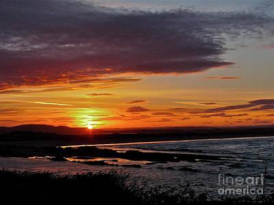 West Sands Sunset Art Print by Deborah Smolinske