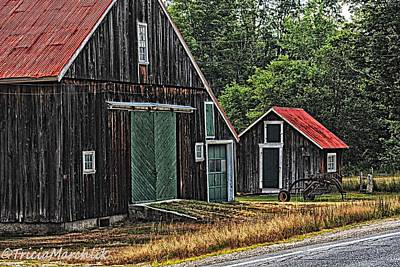 Shed Digital Art - West Side Road by Tricia Marchlik
