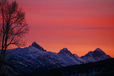 West Side Teton Sunrise Art Print by Raymond Salani III
