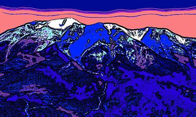 Surrealism Digital Art - West Spanish Peak- Colorado by David G Paul