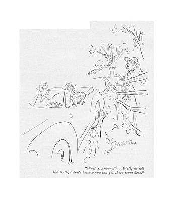 Rural Scenes Drawing - West Stockbury? . . . Well by Garrett Price