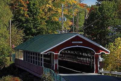 West Swanzey Thompson Covered Bridge Art Print by Juergen Roth