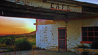 West Texas Cafe Art Print by Brian Kerls