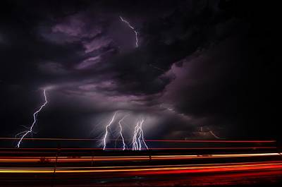Photograph - West Texas Lightning Storm by John Dickinson
