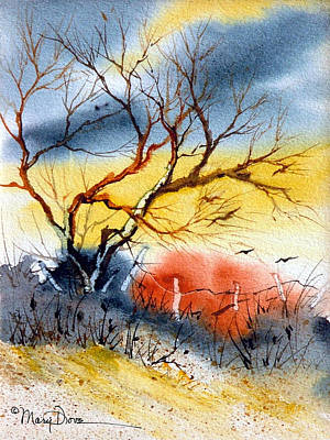 Painting - West Texas Sunrise by Mary Dove