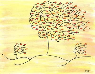 West Texas Wind Fall Art Print by Susie WEBER