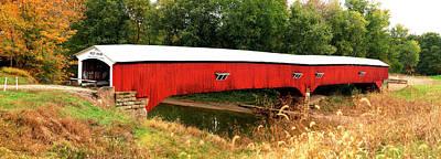 Indiana Scenes Photograph - West Union Covered Bridge, Montezuma by Panoramic Images