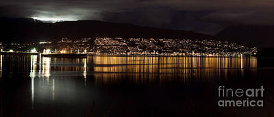 Ski-scape Photograph - West Vancouver By Night by Neil Webb