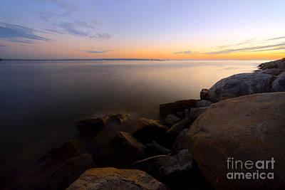 West Vancouver Sunset Art Print by Terry Elniski