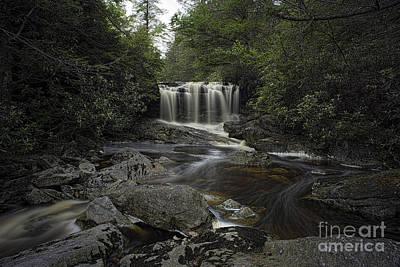 Katharine Hepburn - West Virgina waterfall Jornkbramann  by Dan Friend