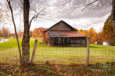 Photograph - West Virginia Barn In Fall by Kathleen K Parker