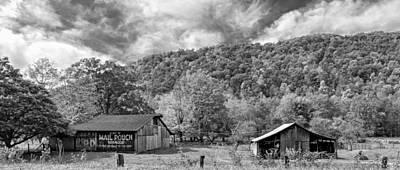 Autumn Photograph - West Virginia Barns Monochrome by Steve Harrington