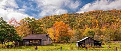 Mail Pouch Photograph - West Virginia Barns  by Steve Harrington