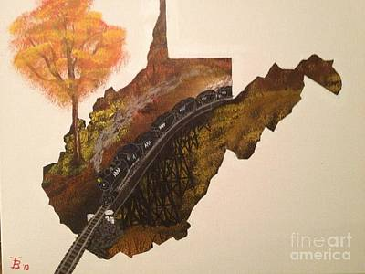 Wet-on-wet-technique Painting - West Virginia Coal Train by Tim Blankenship