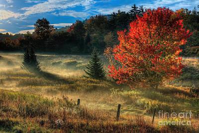 West Virginia Fall Sunrise I Art Print by Dan Carmichael
