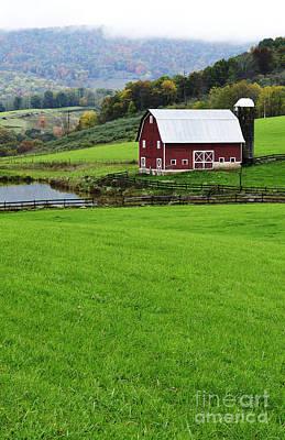 West Virginia Farm In Fall Art Print by Thomas R Fletcher