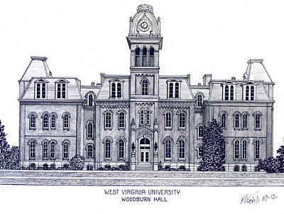 Woodburn Hall Drawing - West Virginia by Frederic Kohli