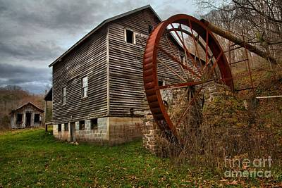 Photograph - West Virginia Grist Mill by Adam Jewell