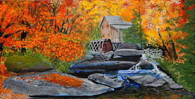 West Virginia Grist Mill Art Print by William Tremble