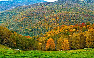 Autumn Landscape Digital Art - West Virginia High Oil by Steve Harrington