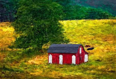 West Virginia Impasto Art Print