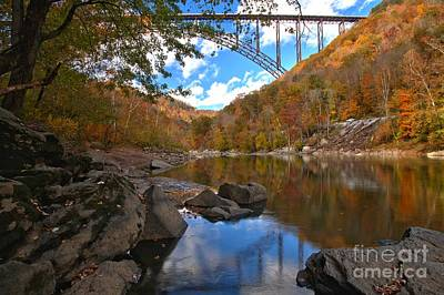 Photograph - West Virginia New River by Adam Jewell
