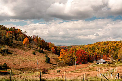 Photograph - West Virginia Rural Landscape Fall by Kathleen K Parker