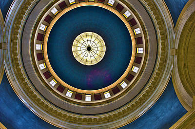 West Virginia State Capital Dome Hdr Art Print