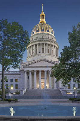 Photograph - West Virginia State Capitol Cap161 by Mary Almond