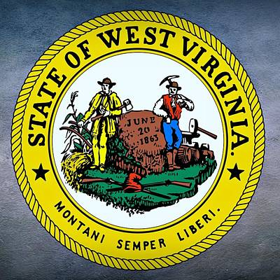 Agriculture Digital Art - West Virginia State Seal by Movie Poster Prints