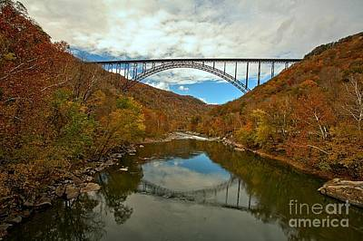 Photograph - West Virginia Steel Arch Bridge by Adam Jewell