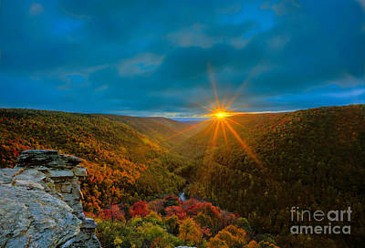 Photograph - West Virginia Sunset In Fall by Dan Friend
