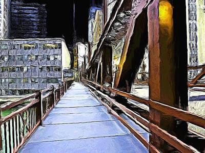 Painting - West Washington Street Bridge - 1 by Ely Arsha