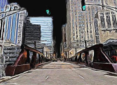 Painting - West Washington Street Bridge - 2 by Ely Arsha
