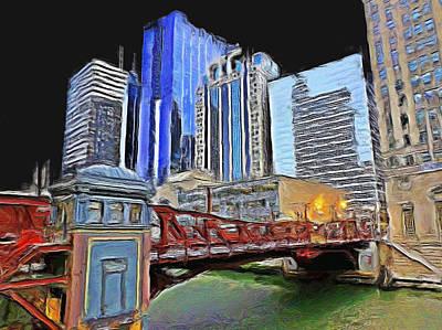 Painting - West Washington Street Bridge - 3 by Ely Arsha