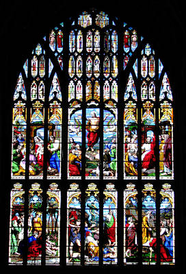 Digital Art - West Window Norwich Cathedral by Stephanie Grant
