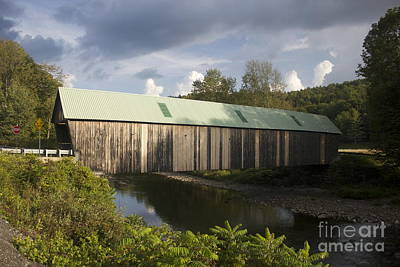 Photograph - West Woodstock Covered Bridge by Amazing Jules