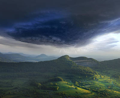 Lightning Photograph - Westalb by Franz Schumacher
